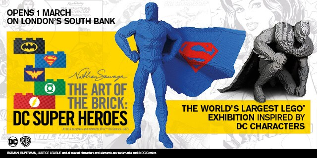 Structure de Tente - Art of the Brick DC Super Heroes Opens 1st March